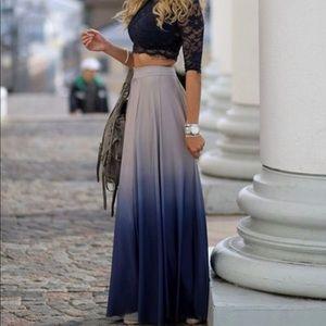 Dresses & Skirts - Blue ombré maxi skirt for summer